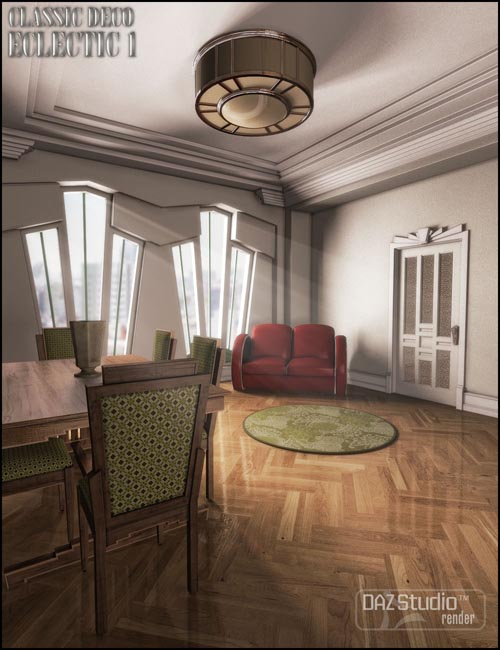 Maison cubiste for classic deco eclectic 1 best daz3d for Model decoration maison