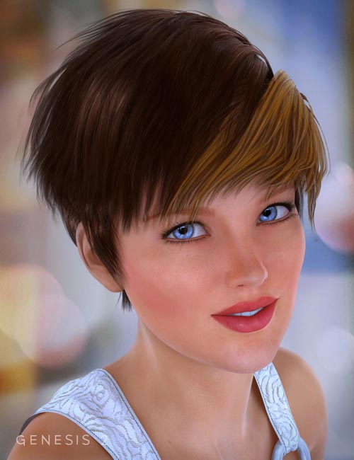 Pyrit Hair for Genesis 2 Female(s)