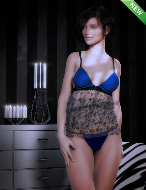 Be Mine Lingerie for Genesis 2 Female(s)