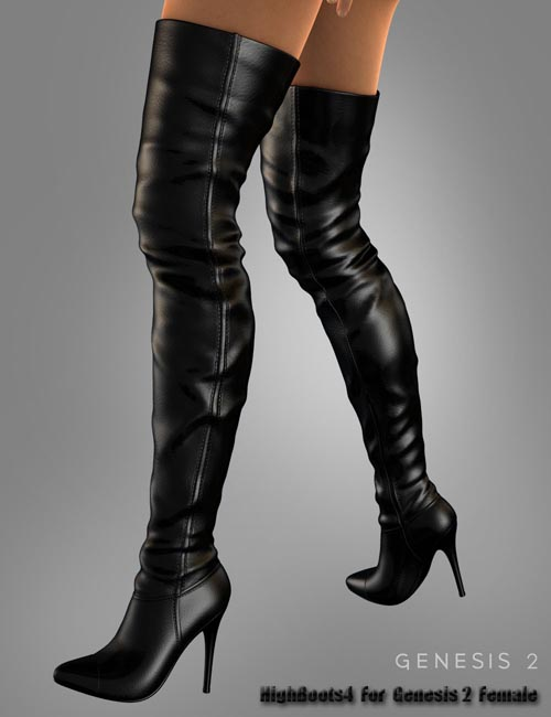 High Boots 4 For Genesis 2 Female(s)