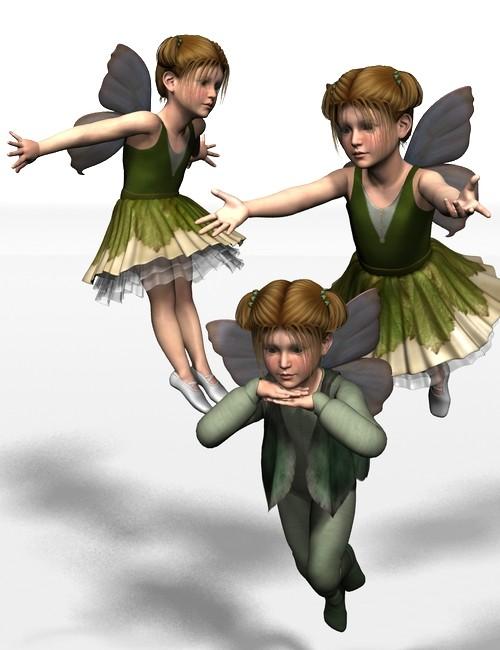 Kids 4 Fairy Poses