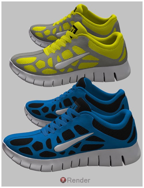 Running Shoes 2 For Genesis 2 Female(s) and Genesis