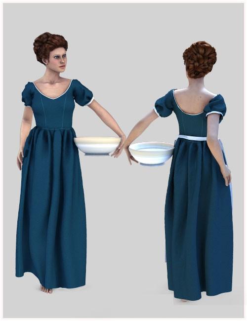 Dynamic Female Peasant Clothing