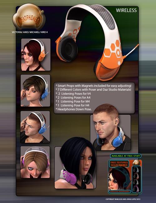 Wireless Headphones & Poses V4/M4/H4/A4