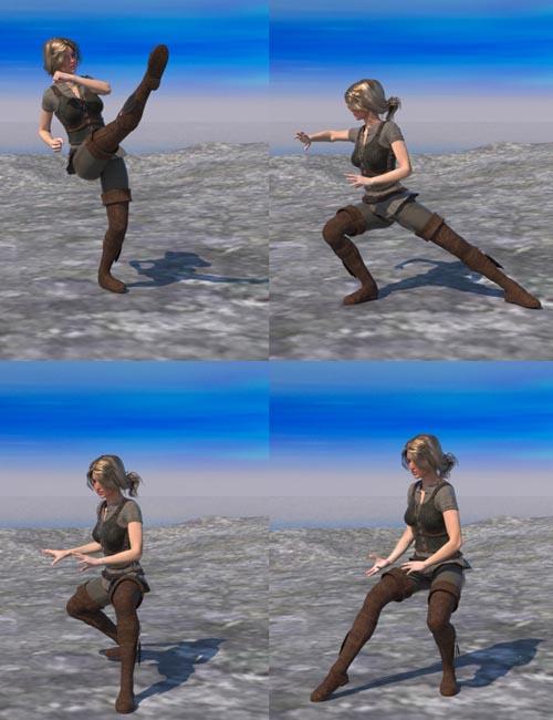 Martial Arts Tai Chi Chuan Pose For Genesis FeMale 2 V6 Set 1