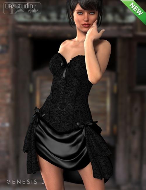 Bustier Dress for Genesis 2 Female(s)