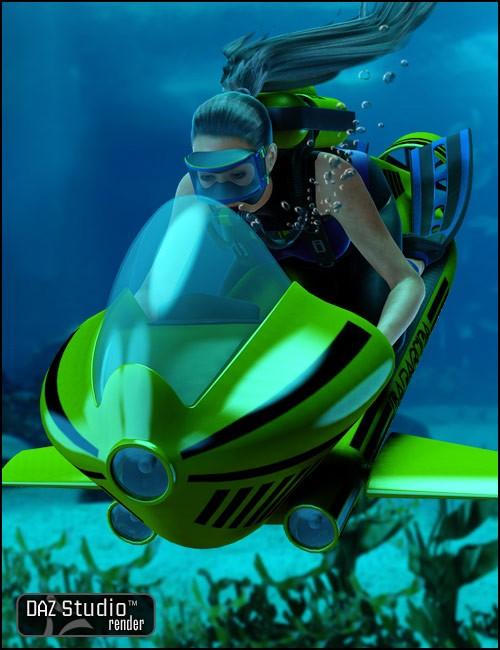 Underwater Scooter [ .DUF & Iray UPDATE ]