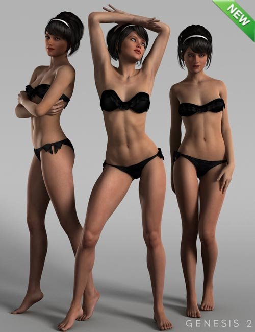 Dishy Delight Poses for Genesis 2 Female(s)