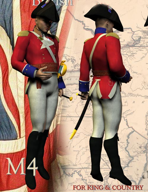 1812 British Officer`s Uniform (M4) (for Poser)