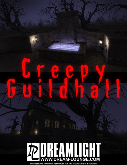 Creepy Guildhall DAZ Studio Light Set