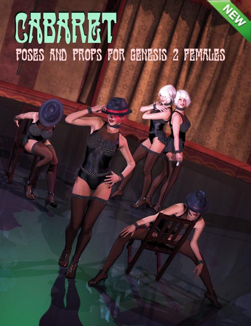 Cabaret Poses and Props for Genesis 2 Female(s)