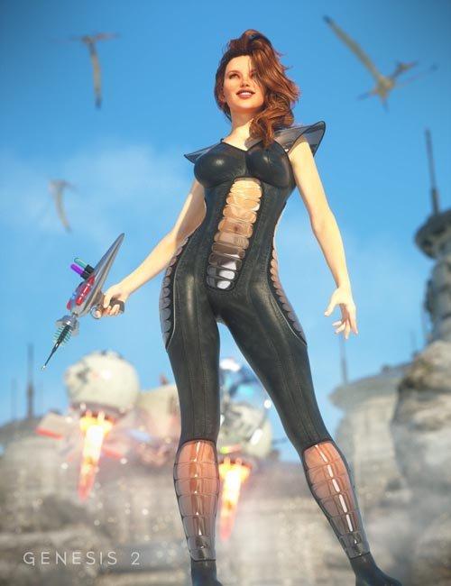 Retro SciFi Bodysuit for Genesis 2 Female(s)