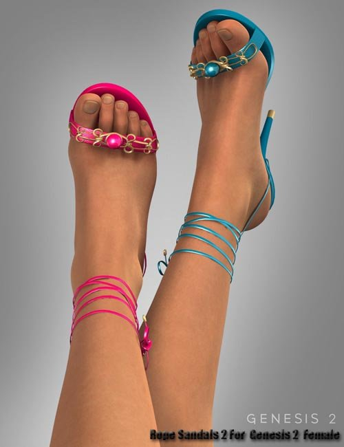 Rope Sandals 2 For Genesis 2 Female(s)