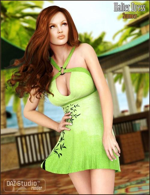 Summer Halter Dress