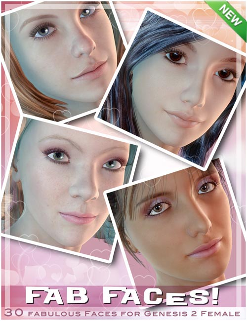 Fab Faces for Genesis 2 Female(s)