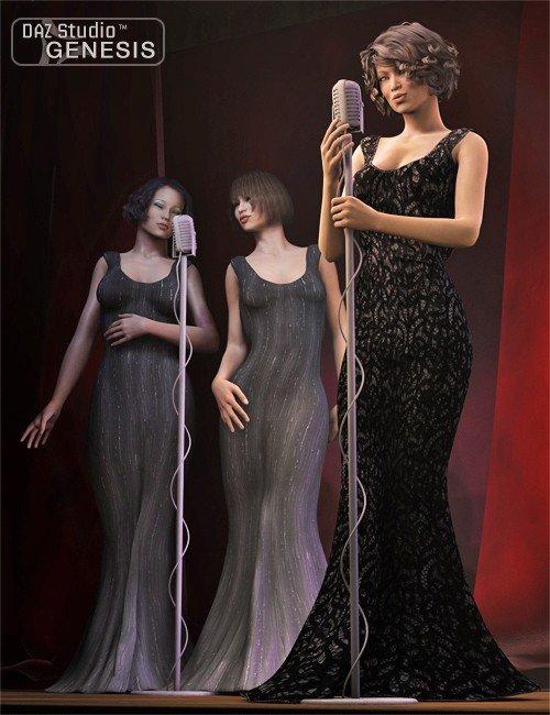 Genesis Evening Gown Textures