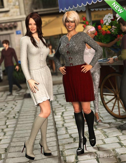 Darcy Outfit for Genesis 2 Female(s) Textures