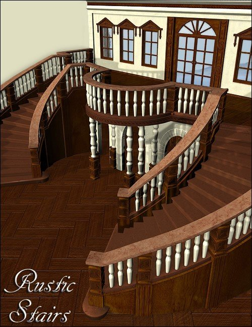 Rustic Look for Royal Stairs