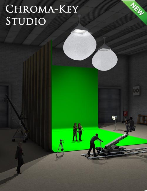 Chroma-Key Green Screen Studio
