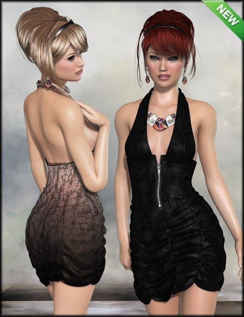 Sexy Girl Dress Textures