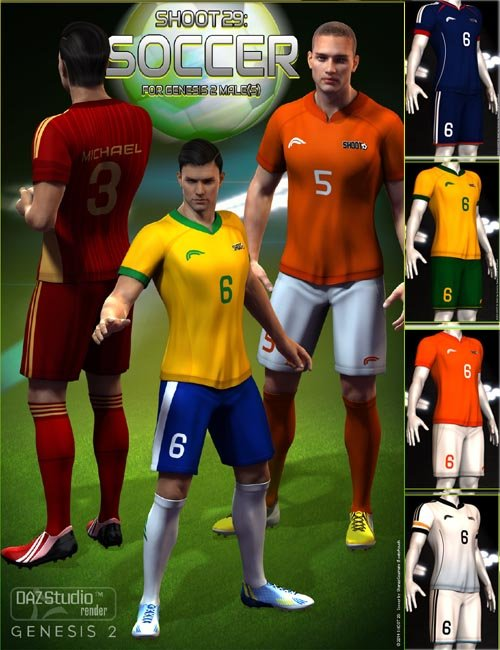 SHOOT 29: Soccer for Genesis 2 Male(s) [Iray UPDATE]