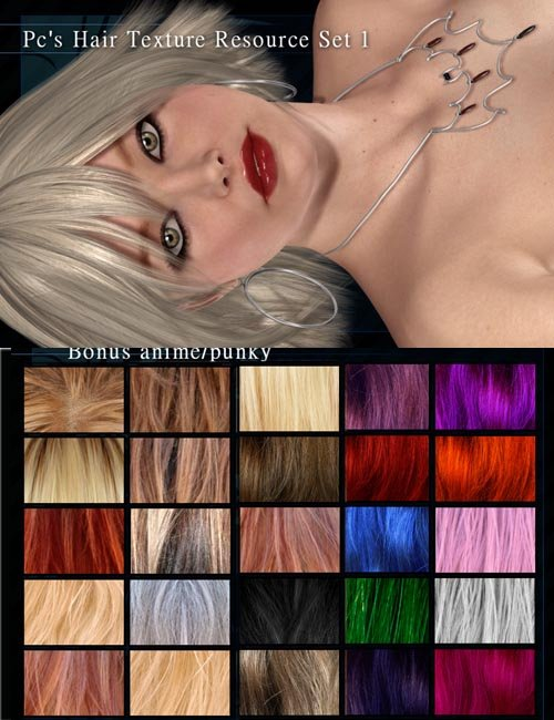 Pc's Hair Resource Texture Kit Set 1