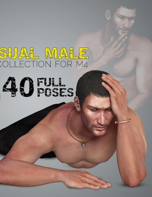 i13 Sensual Male Pose Collection for M4