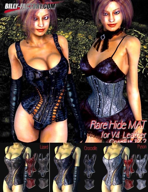Rare Hide MAT for Leather Corset
