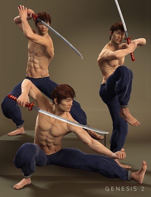 Lee 6 Sword Poses