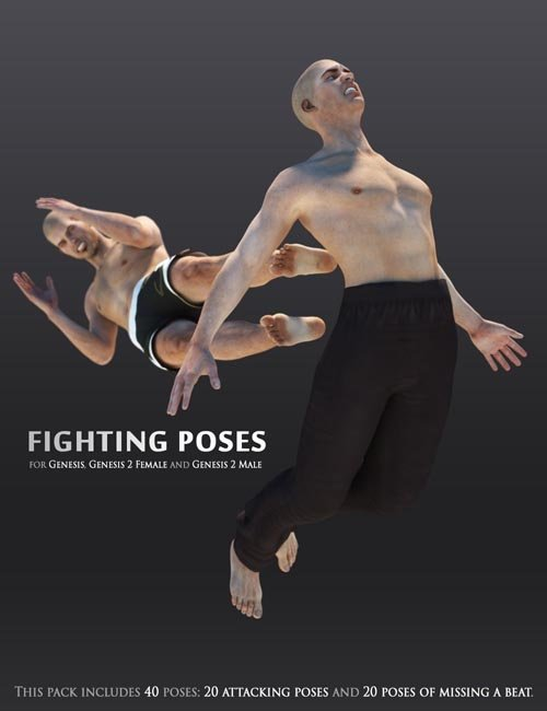 Fighting Poses for Genesis and Genesis 2