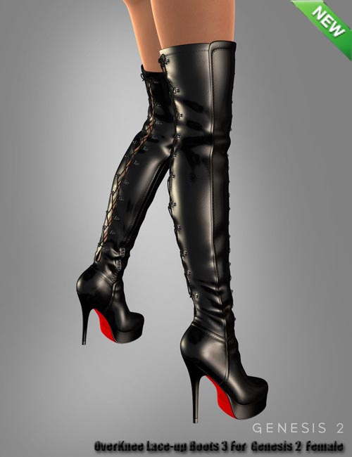 OverKnee Lace-up Boots 3 For Genesis 2 Female(s)