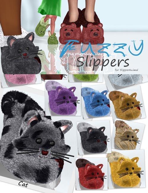 Fuzzy Slippers for SlipperAnimal