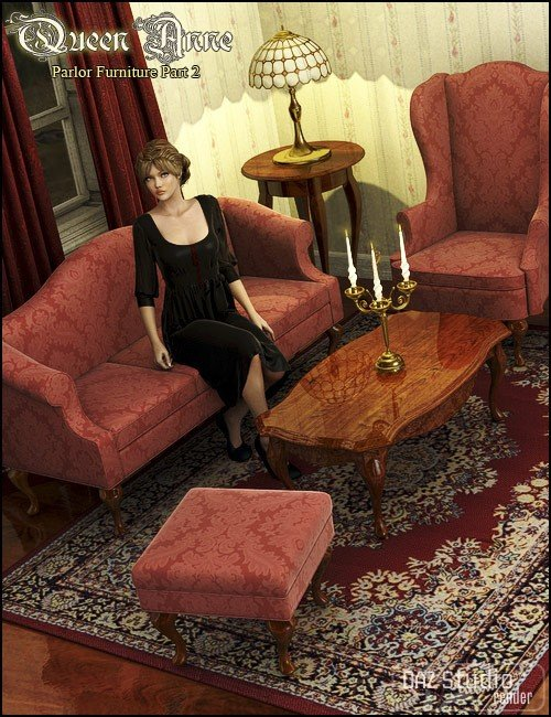 Queen Anne Parlor Furniture Part 2