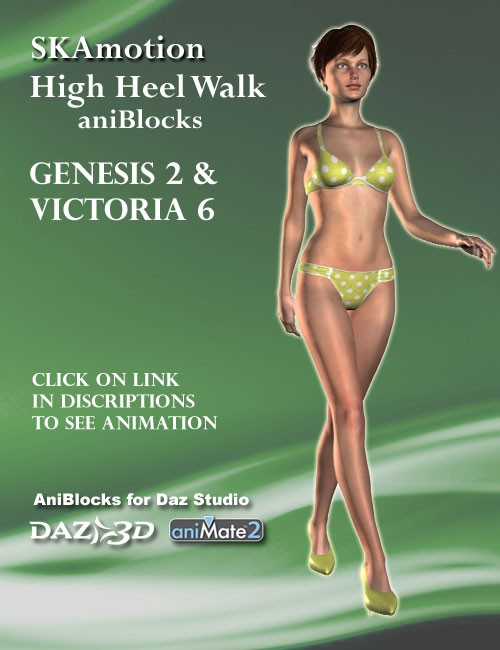 Victoria 6 / Genesis 2 Female(s) High Heel Walk aniBlock