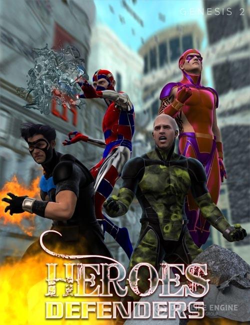 Heroes Defenders Poses for Genesis 2 Male(s)