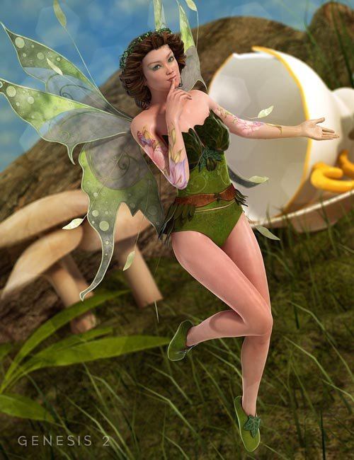 Ivy Dress and Shoes for Genesis 2 Female(s)