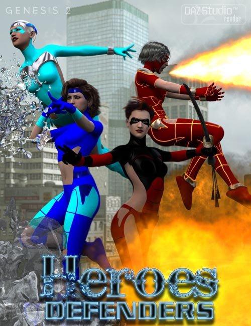 Heroes Defenders Poses for Genesis 2 Female(s)