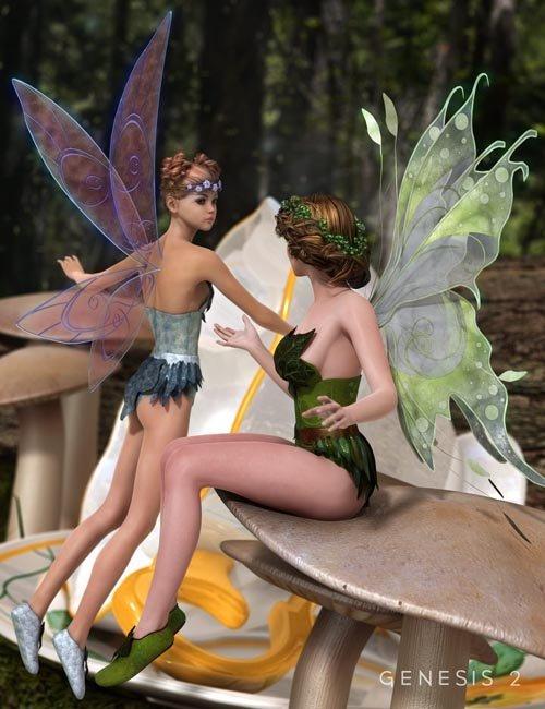 Fluttery Wings for Genesis 2 Female(s)