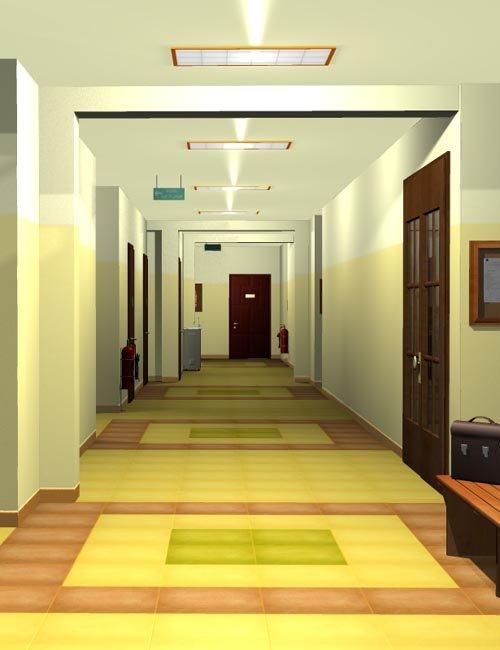 SCHOOL Lobby+corridor