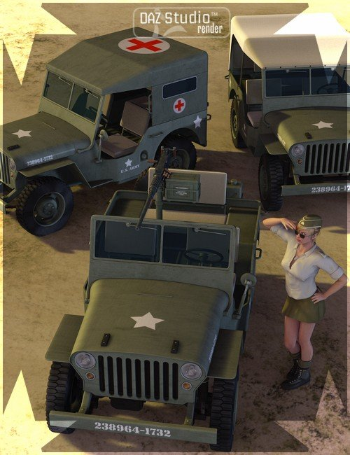 WWII Jeep Plus [ Iray UPDATE ]