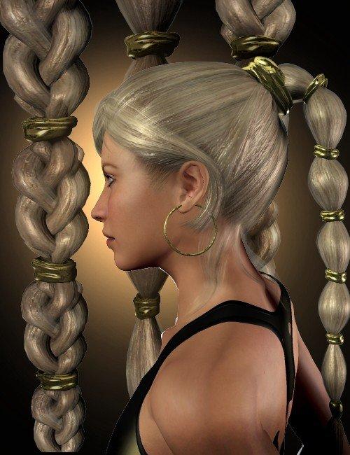 Princess Tails Hair Set