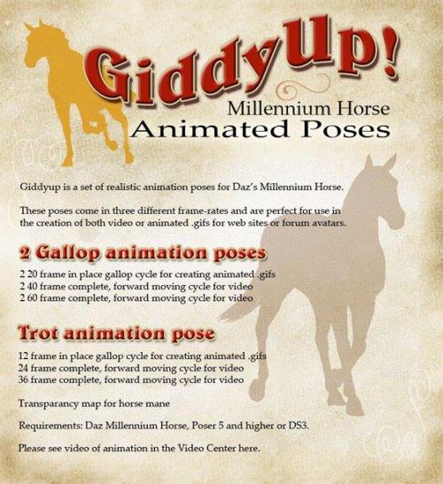 Giddyup Animated Horse Poses