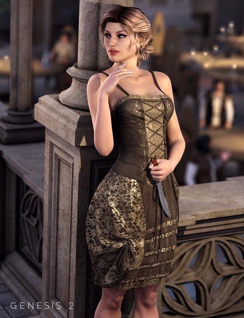 [ iray update ] Francesca Dress for Genesis 2 Female(s)