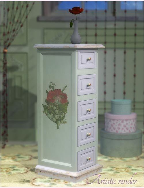 Shabby Chic Poppy Drawer