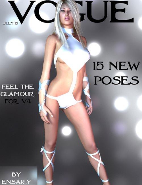 VOGUE poses for V4