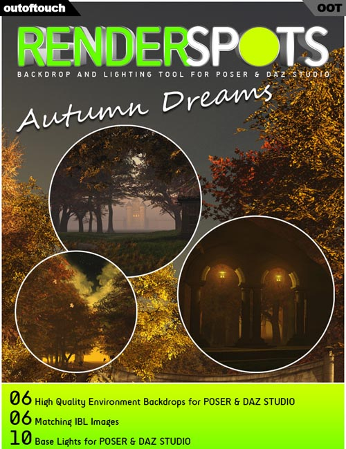 RenderSpots Autumn Dreams for Poser and DAZ Studio