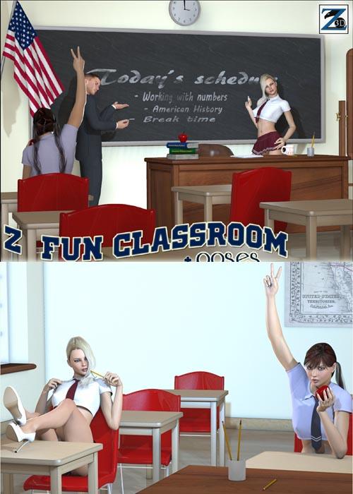 Modern Classroom Model : Modern classroom best daz d poses download site