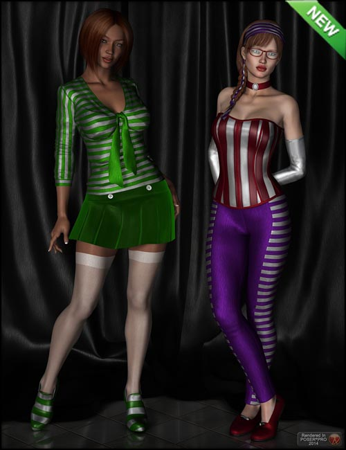 Fabulous Stripes - Shaders for DAZ Studio and Poser