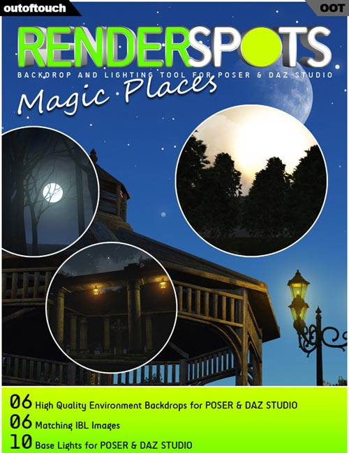 RenderSpots Magic Places for Poser and DAZ Studio