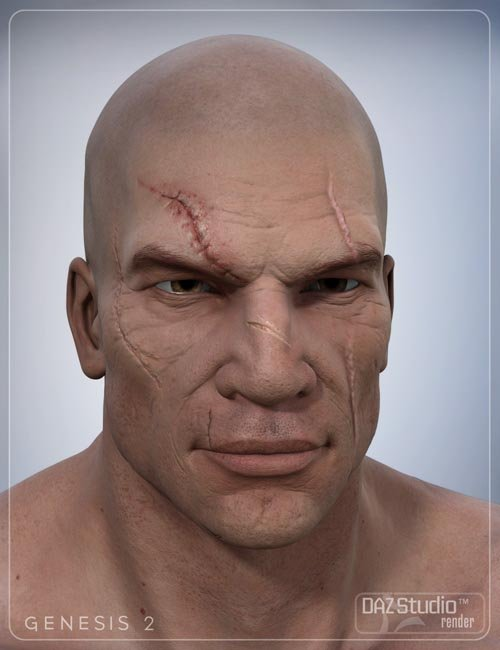 Face Scars Decals for Genesis 2